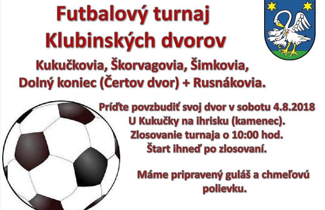 Futbalový turnaj Klubinských dvorov